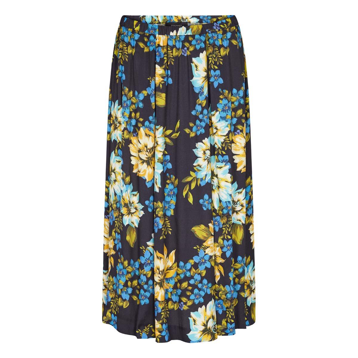 Graumann Blomstret nederdel Blå