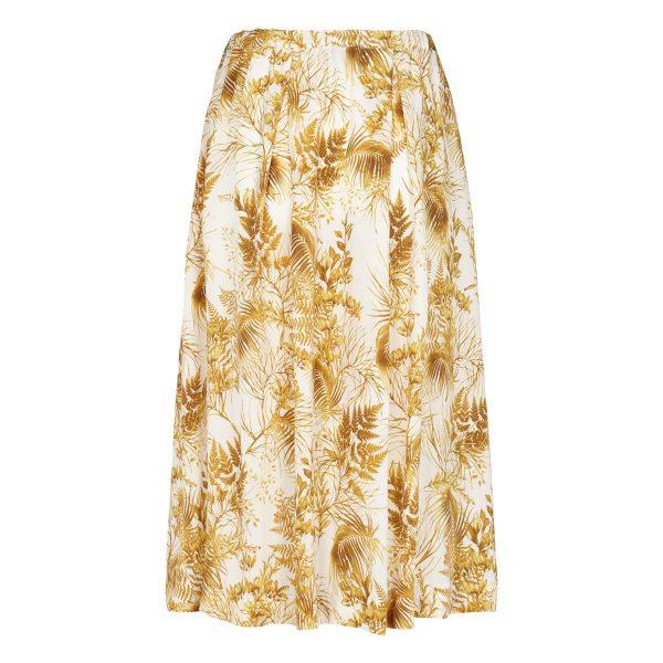 Graumann Lang blomstret nederdel Hvid