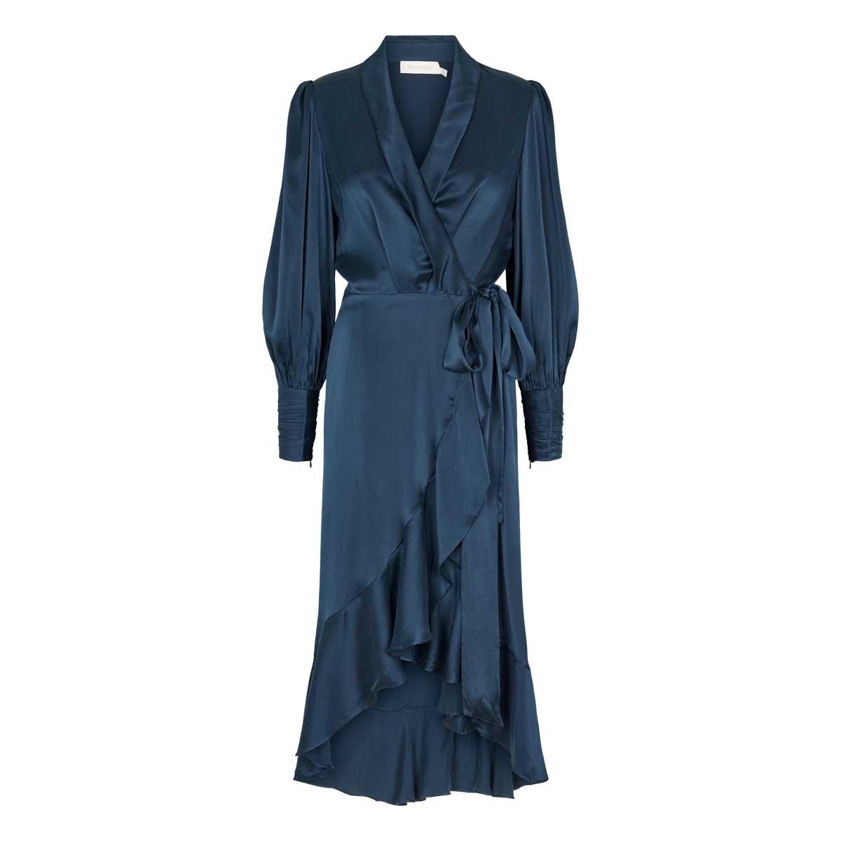 Zimmermann, Slå om kjole lang Navy