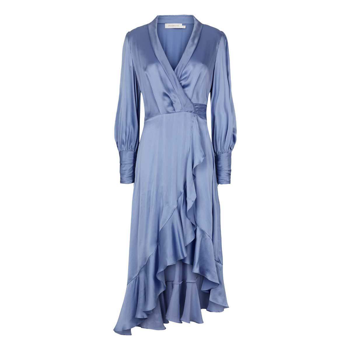 Zimmermann, Slå om kjole lang Blå