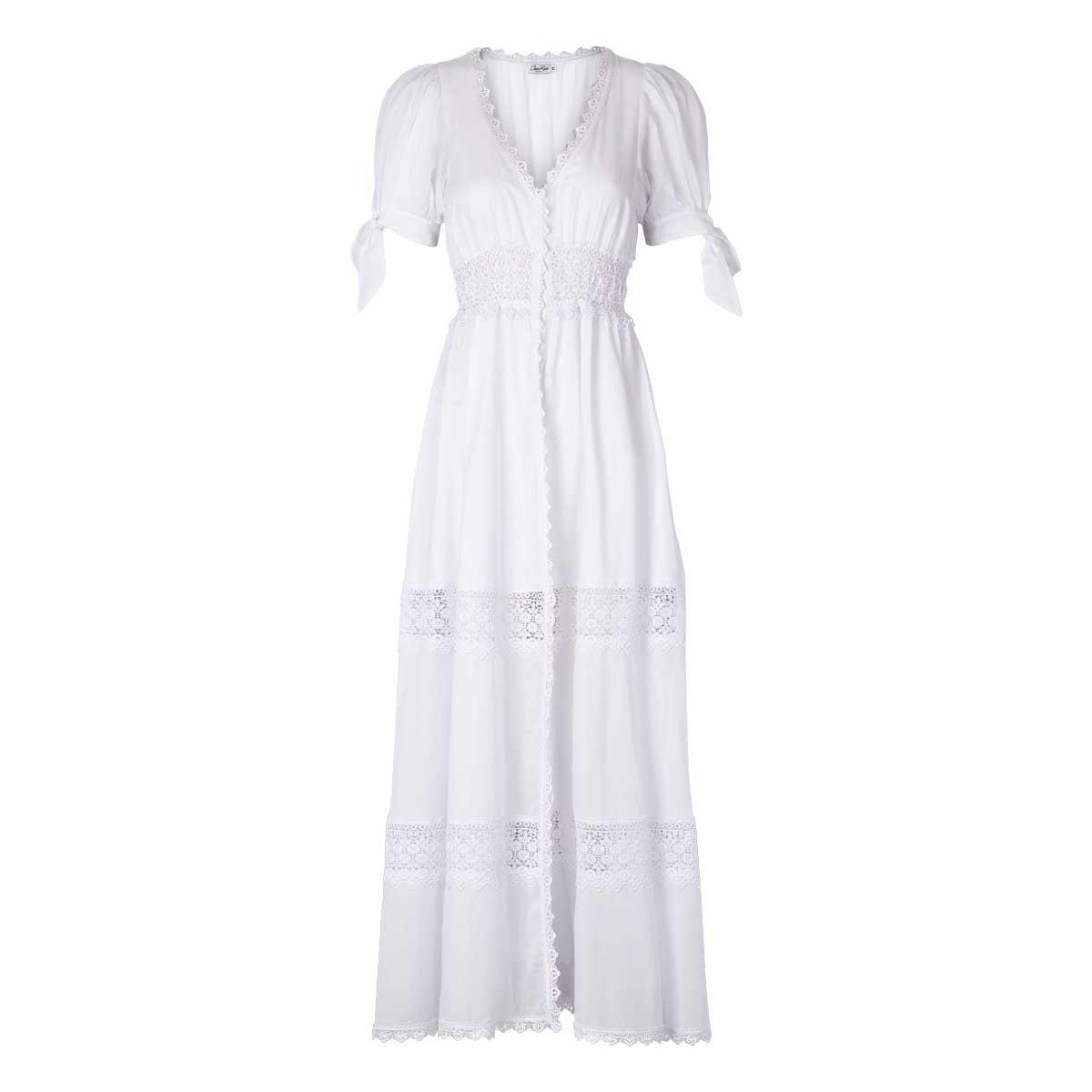 Charo Ruiz, Thelma Long Dress Hvid